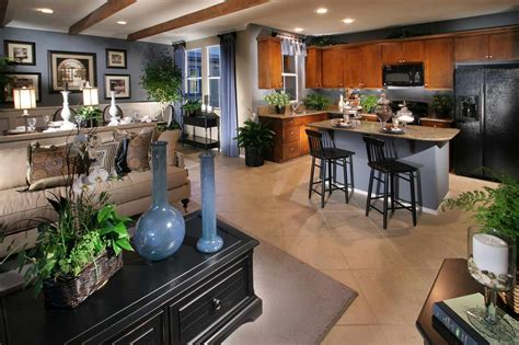 Kitchen Dining Family Room Floor Plans Open Plan Bines And