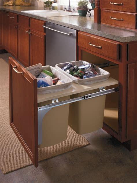 aristokrafts double wastebasket cabinet  trash