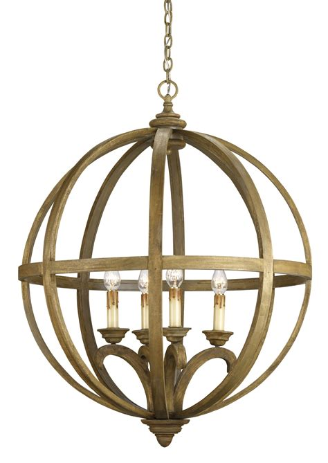currey and company 9015 axel four light orb chandelier