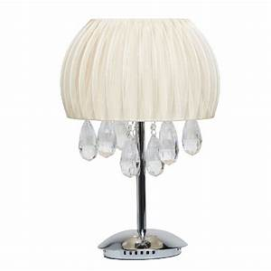 Lampe De Chevet Metal : lampe de chevet m tal larmes de cristal abat jour ivoire luminaires ~ Melissatoandfro.com Idées de Décoration