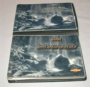 2001 Chevrolet Silverado Owners Manual Guide Book Set With