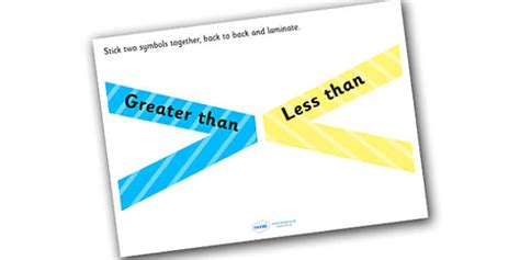 Greater Than Less Than Flippable Visual Aid  Visual Aid, Aids