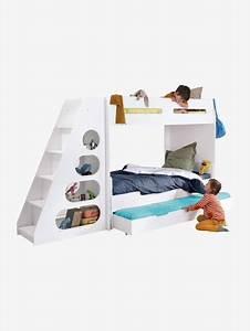 Lit Enfant Combiné : lit mezzanine enfant pour combin volutif combibed blanc ~ Farleysfitness.com Idées de Décoration