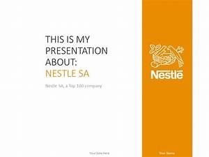 Nestlé Powerpoint Template Orange Presentationgo Com