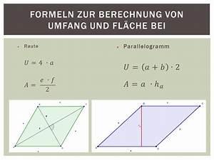 Flächeninhalt Berechnen Parallelogramm : raute und parallelogramm ppt video online herunterladen ~ Themetempest.com Abrechnung