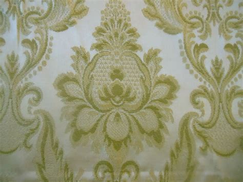 vintage drapery fabric vintage soft green damask fabric upholstery projects