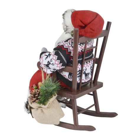40cm santa sitting on a rocking chair room