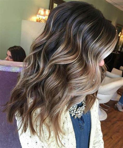 Darker Brown Hair by A Few Balayaged Hilights Through Darker Hair Hair
