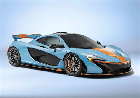 old mclaren one off mclaren p1 with classic gulf oil racing livery is
