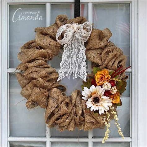 how to make a burlap wreath with two colors how to make a burlap wreath using a coat hanger