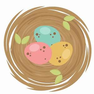 Spring Birds Nest SVG cutting file for scrapbooking cute ...