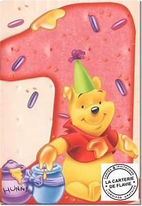 1 An Anniversaire : carte anniversaire 1 an disney winnie ref 091105 ~ Farleysfitness.com Idées de Décoration
