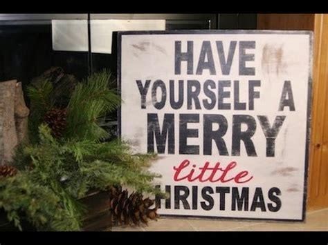 diy wooden christmas sign showmecute youtube