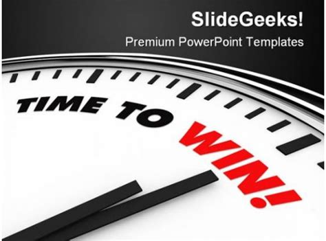time  win business powerpoint template