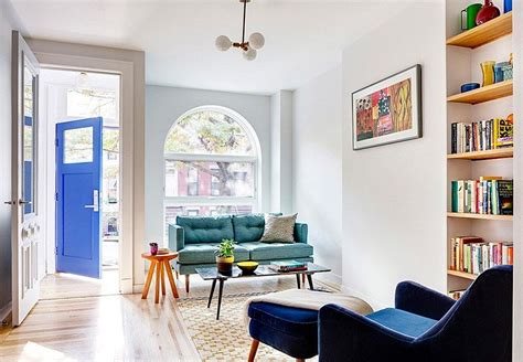 revamped narrow brooklyn row house defined  unique details