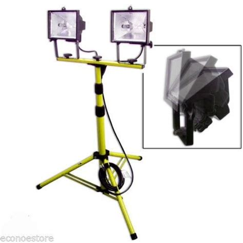 halogen l with stand 1000w twin halogen shop work light w telescoping stand