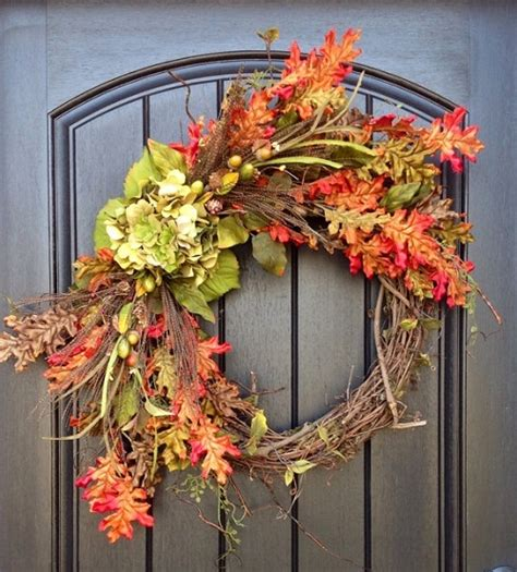 decorating with wreaths creative fall decorating ideas for a grapevine wreath