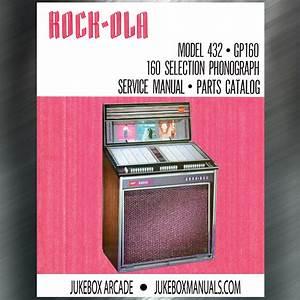 Rare  Rock Ola 432 Gp  160 Service Manual  Parts List