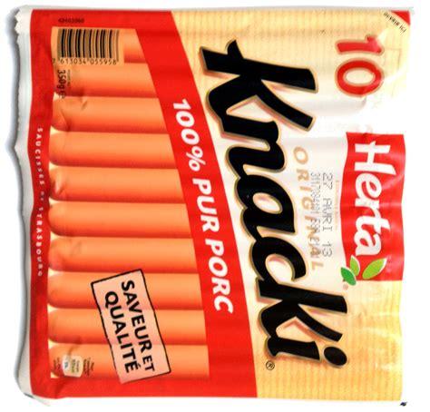 cuisiner des saucisses de strasbourg 10 original knacki 100 pur porc herta 350 g