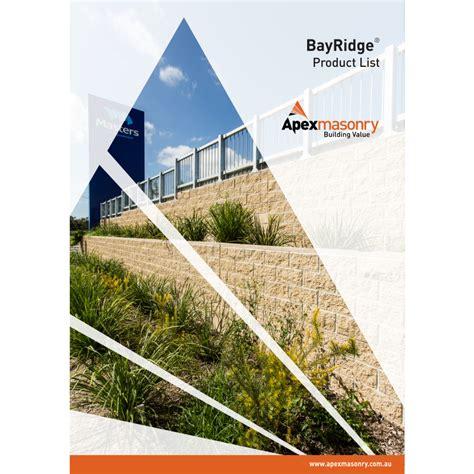 Ridge Lisd by Apex Masonry Honed Bayridge 174 Architectural Masonry