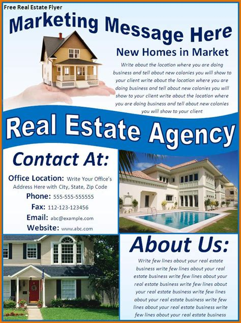 Real Estate Flyer Template Free Real Estate Flyer Templates Freereference Letters Words