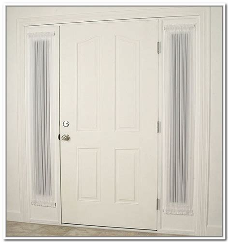 front door sidelight curtain rods sidelight window treatments for your safety and style