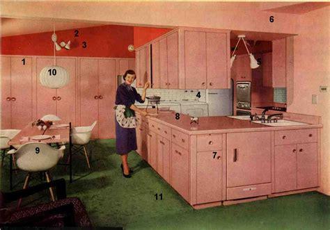 cuisine vintage formica 1953 formica pink kitchen today 39 s kitchen flashback