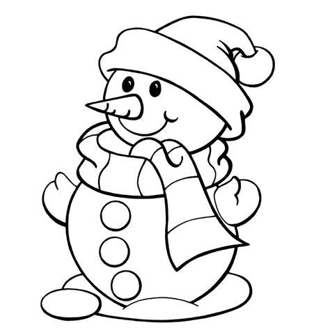 Sneeuwman Kleurplaat Simpel winterkleurplaten onderwijshoek