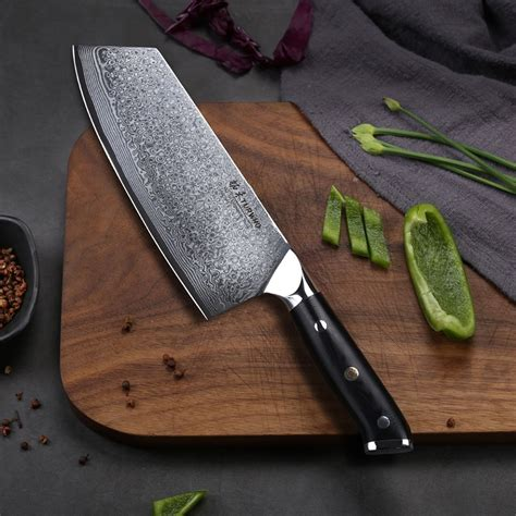 japanese damascus steel cleaver kitchen knife knifewarehouse