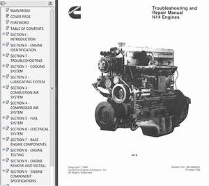 Cummins N14 Engines Shop  U0026 Troubleshooting  U0026 Repair Manual