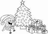 Spongebob Coloring Pages Christmas Colouring Pdf Printable Printables Getcolorings Patrick Colorings Presents Rocks Gift Enregistree Depuis sketch template