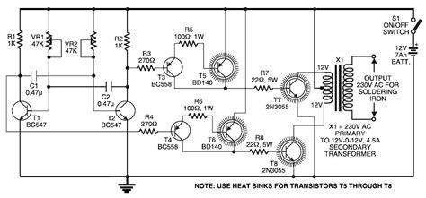 Inverter Circuit For Soldering Iron Diagram World