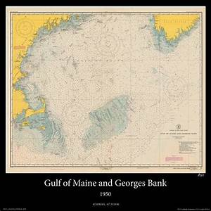 Nautical Map Of The Gulf Of Maine And Georges Bank By