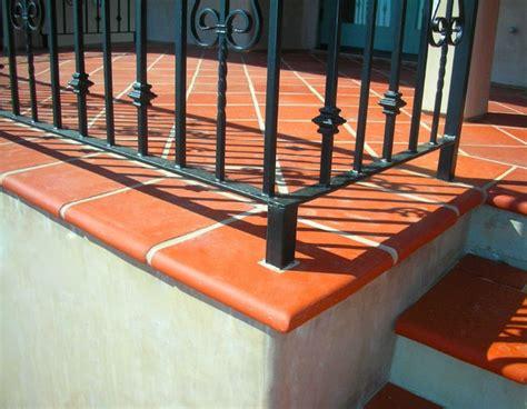 terra cotta tile bullnose mediterranean exterior