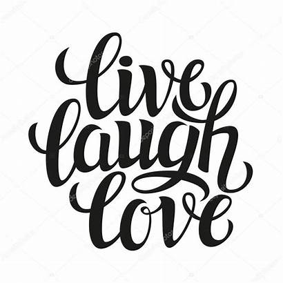 Typography Poster Hand Vector Laugh Drawn Illustration