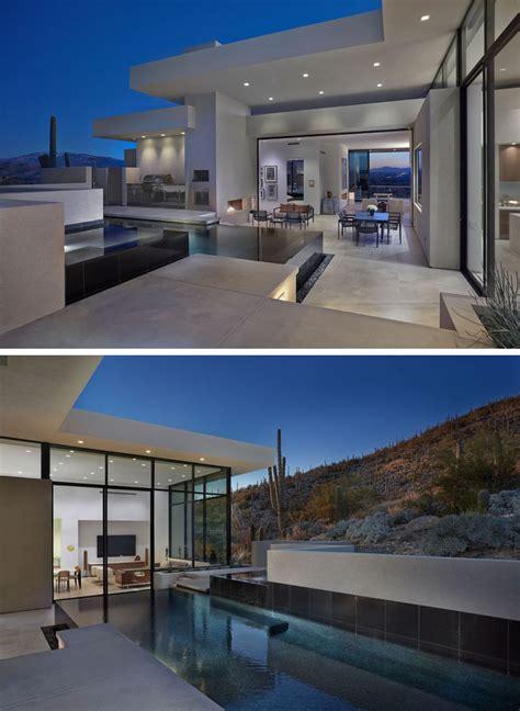 modern hillside house  arizona    private