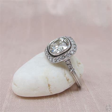 cushion cut antique engagement rings wedding promise