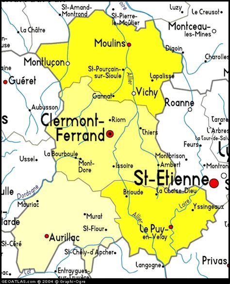 clermont ferrand carte et image satellite