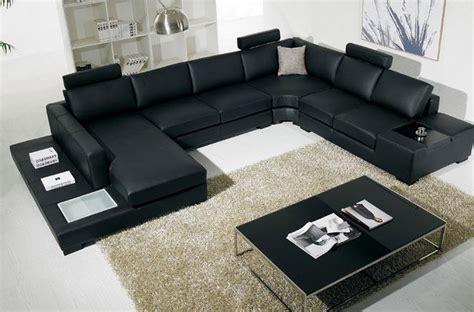 canape angle cuir noir canapé d 39 angle en cuir italien 8 places almera avec