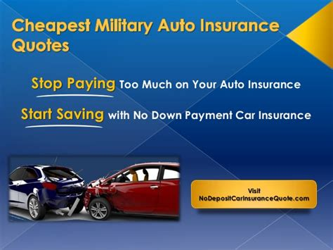 Cheapest Military Auto Insurance Quotes
