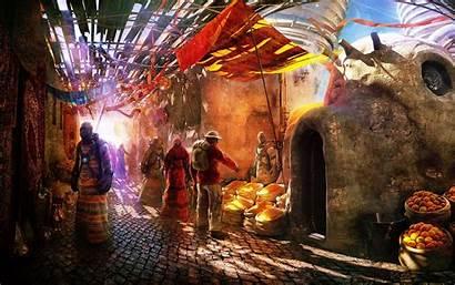 Market Space Fantasy Rpg Alien Artistic Desktop