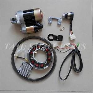 5kw Electric Start Kit Cw Dire  Fits Yanmar L100 Diesel 10hp Starter Motor Key Switch Flywheel