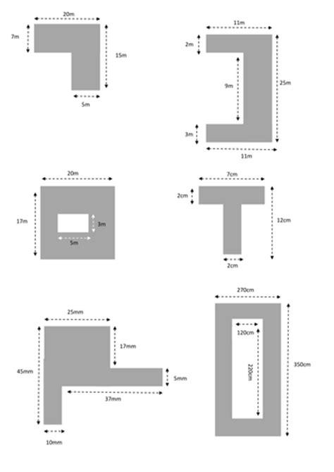 printables area of shaded region worksheet
