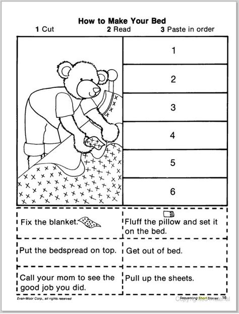 preschool story sequencing printables story sequencing cut amp paste learningenglish esl 262
