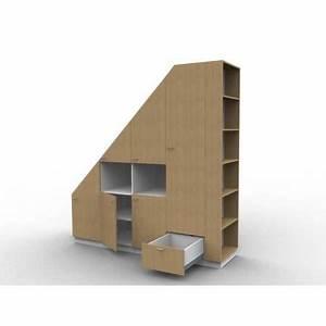 Meuble Pour Comble : meuble de rangements sous pente ou sous escalier sur ~ Edinachiropracticcenter.com Idées de Décoration