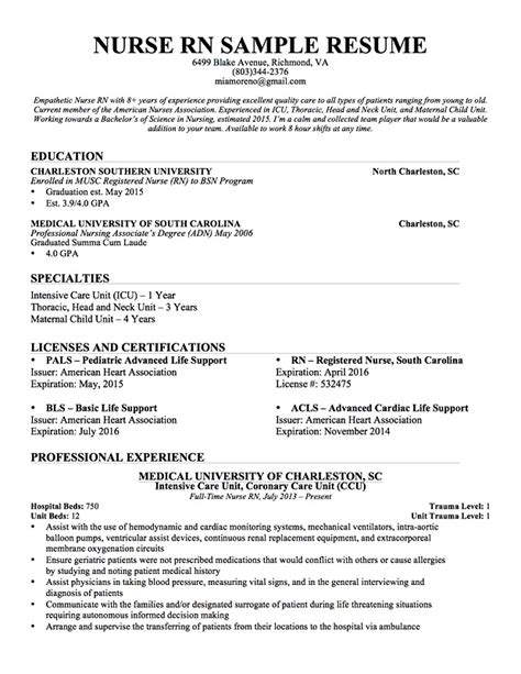 10 bsc nursing biodata format resume sle resume for