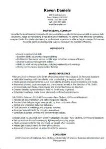 Personal Resume Template Professional Personal Assistant Templates To Showcase Your Talent Myperfectresume