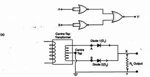 Explain Briefly  With The Help Of Circuit Diagram  The Working Of A Full Wave Rectifier  Draw