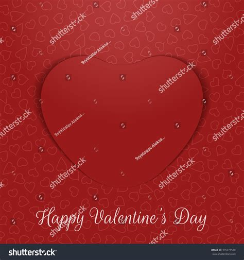 valentines day realistic greeting card paper stock vector