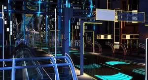 Night future street city 3D model - TurboSquid 1150472